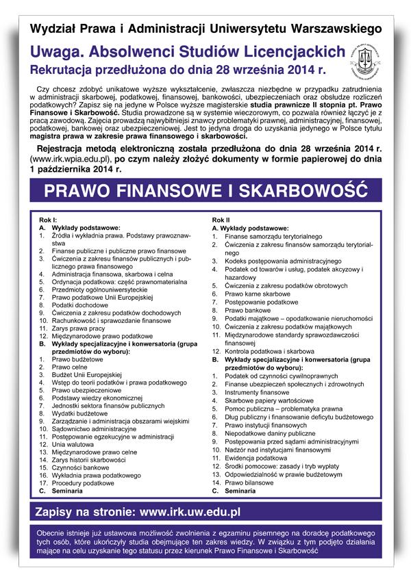 Prawo Finansowe i Skarbowość