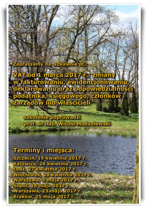 VAT od 10 marca 2017 r.