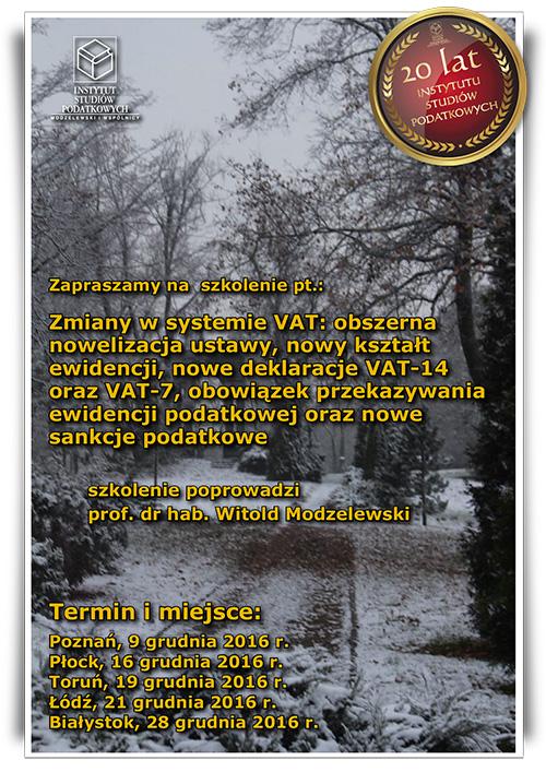 Zmiany w systemie VAT