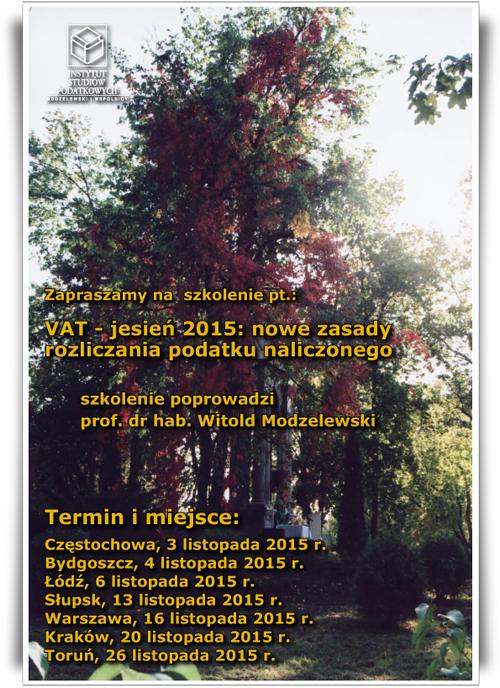VAT - Jesień 2016