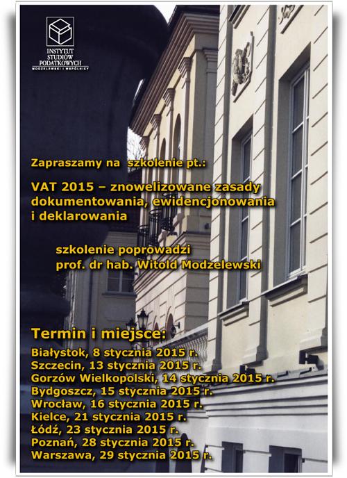 Szkolenie VAT 2015