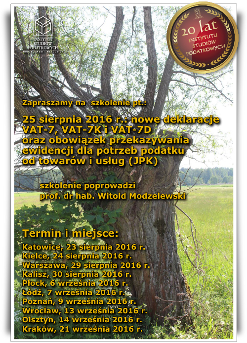 Nowe deklaracje VAT - 7, VAT - 7K i VAT - 7D