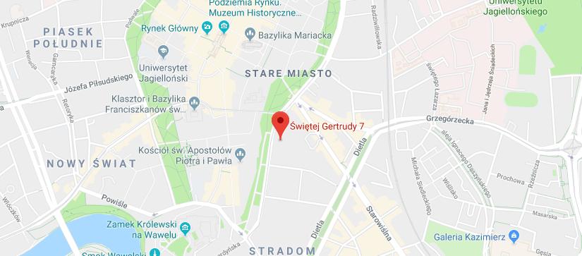 Mapa Kraków